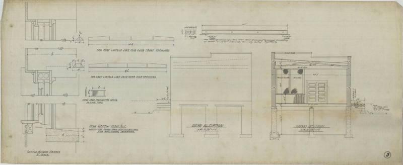 Drawing, Thompson Architectural - Errett Hamilton, Little Rock