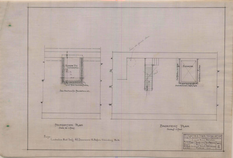 Work Specifications, Charles Thompson - Walter Estes